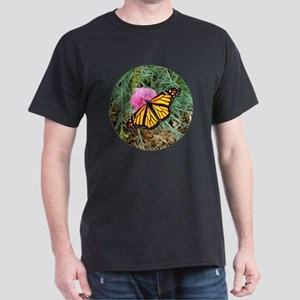 Monarch Butterfly Buttons and Magnets Dark T-Shirt