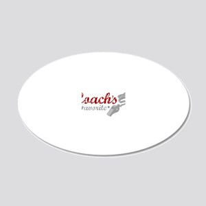 2-coachsfavorite_black 20x12 Oval Wall Decal