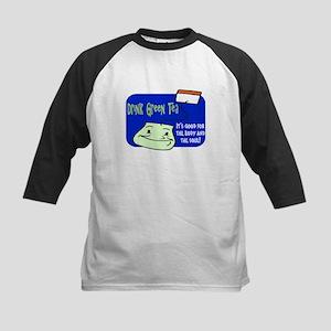 GREEN TEA! Kids Baseball Jersey