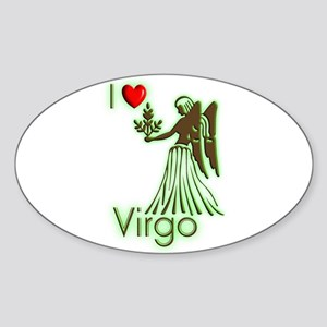 I Love Virgo Oval Sticker