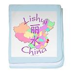 Lishui China Map baby blanket