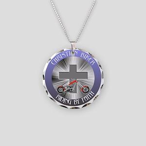 CRISTIAN BIKER 3 Necklace Circle Charm