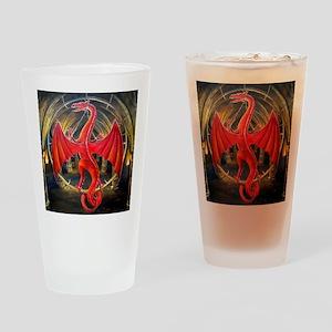 red dragon use squ Drinking Glass