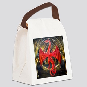 red dragon use squ Canvas Lunch Bag