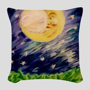 Night Moon Woven Throw Pillow