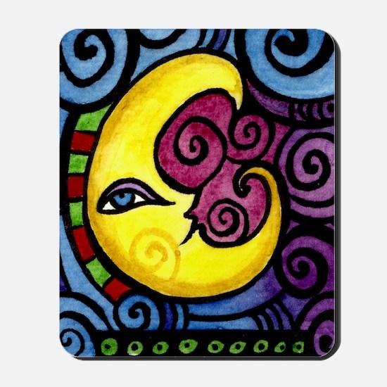Swirly_Moon_12inch Mousepad