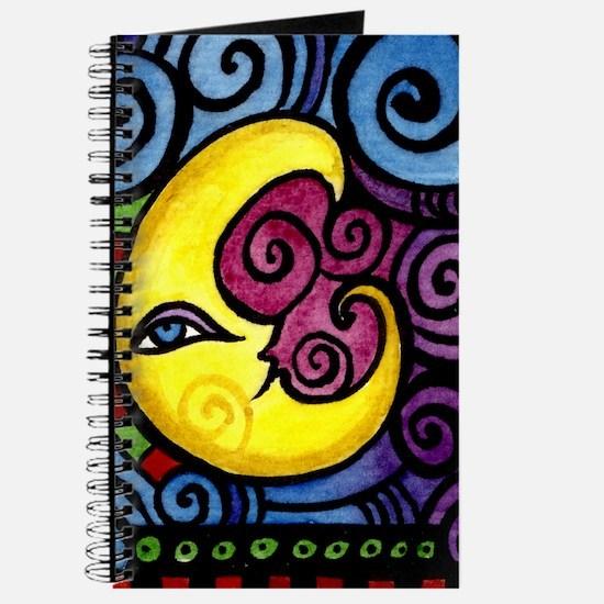 Swirly_Moon_12inch Journal