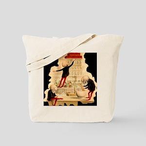 Mad-Scientist-Skeletons-onBlack Tote Bag