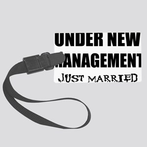 2-just-married Large Luggage Tag