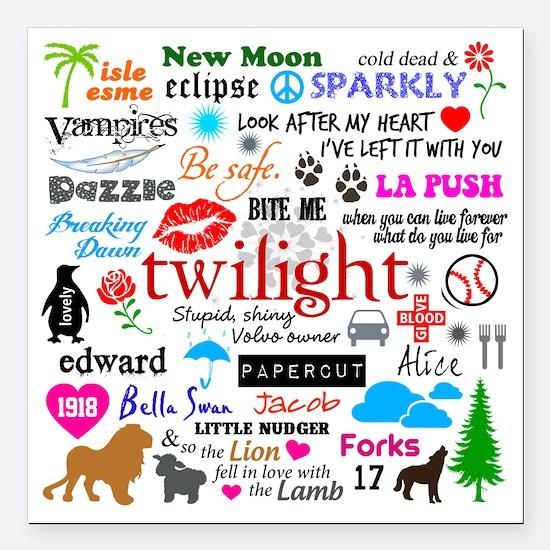 """Twilight Memories Square Car Magnet 3"""" x 3"""""""