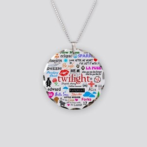 Twilight Memories Necklace Circle Charm