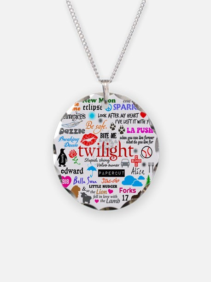 Twilight Memories Necklace Circle Charm