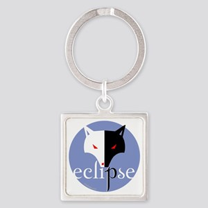 eclipse 2 sided violet copy Square Keychain