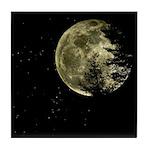 Woodland Full Moon Tile Coaster