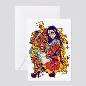 Tattooed Dirty Girl Greeting Card