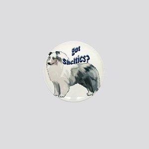blue merle shelty2 Mini Button