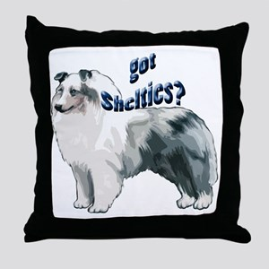 blue merle shelty2 Throw Pillow
