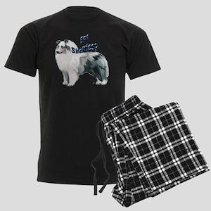 blue merle shelty2 Men's Dark Pajamas