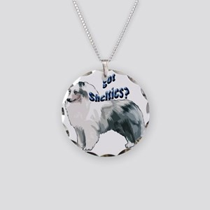 blue merle shelty2 Necklace Circle Charm
