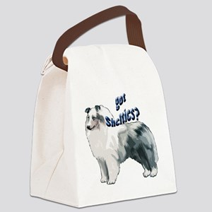 blue merle shelty2 Canvas Lunch Bag