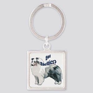 blue merle shelty2 Square Keychain