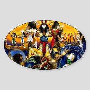 The Gods81 Sticker (Oval)