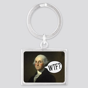 george-washington-rec Landscape Keychain