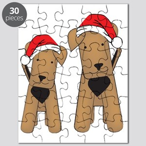 airedales_xmas_cafepress Puzzle