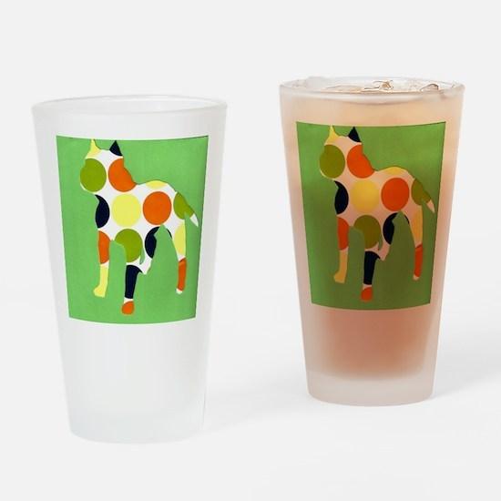 pitbullgreen Drinking Glass
