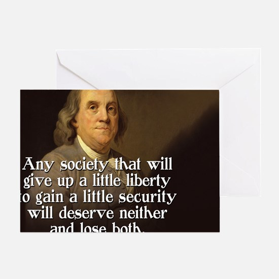 Ben Franklin Quote Greeting Card