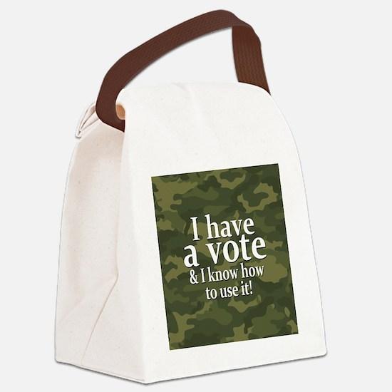 buttons-0426-haveavote Canvas Lunch Bag