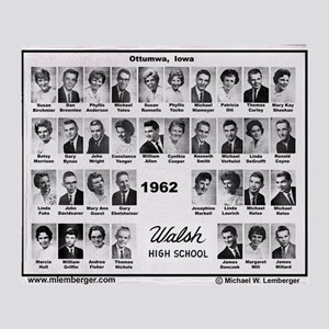 WALSH62 Class-Mousepad Throw Blanket