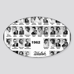 WALSH62 Class-Mousepad Sticker (Oval)