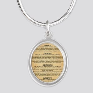 Boyes Largest Rules Poster Silver Oval Necklace