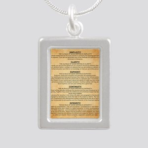 Boyes Largest Rules Post Silver Portrait Necklace