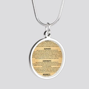Boyes Largest Rules Poster Silver Round Necklace