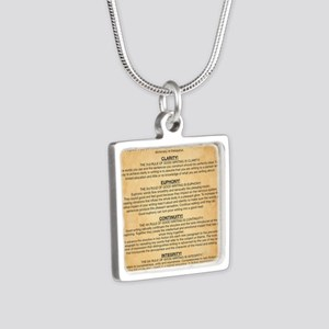 Boyes Largest Rules Poster Silver Square Necklace