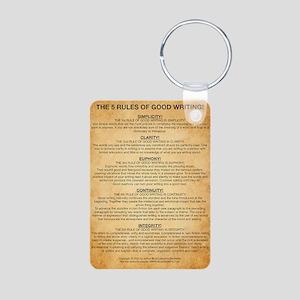 Boyes Largest Rules Poster Aluminum Photo Keychain