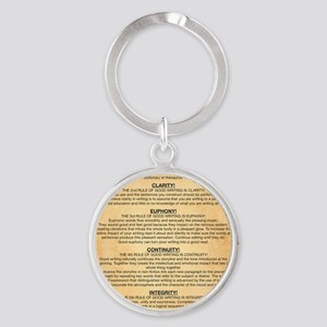 Boyes Largest Rules Poster Round Keychain