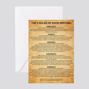Famous writers greeting cards cafepress boyes largest rules poster greeting card m4hsunfo