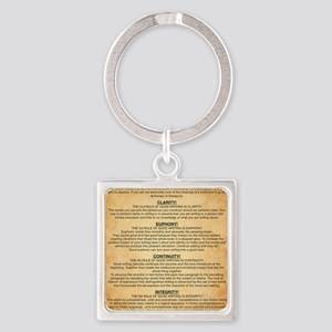 Boyes Largest Rules Poster Square Keychain