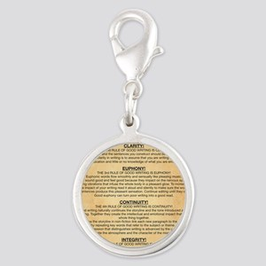 Boyes Largest Rules Poster Silver Round Charm