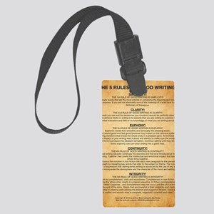 Boyes Largest Rules Poster Large Luggage Tag