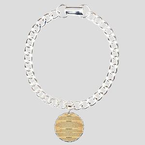 Boyes Largest Rules Post Charm Bracelet, One Charm