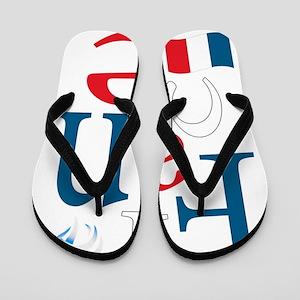3-france Flip Flops