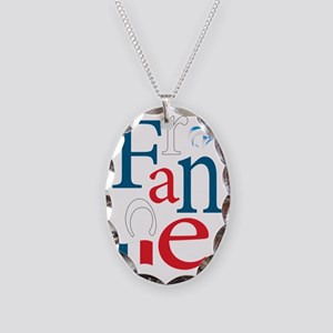 3-france Necklace Oval Charm
