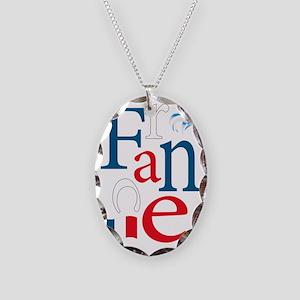 3-france Necklace Oval Charm
