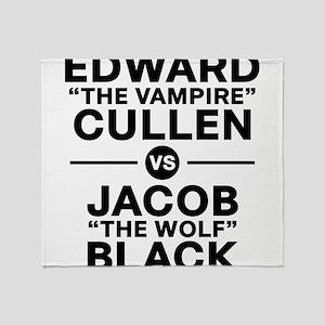 edward-vs-jacob_black Throw Blanket