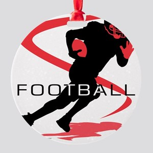 Football 18 Round Ornament