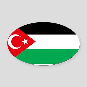 turkey-palestine-flag-solidarity Oval Car Magnet